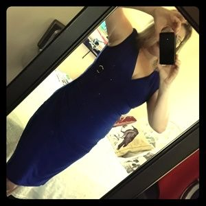 Ralph Lauren Cobalt Blue Office Dress